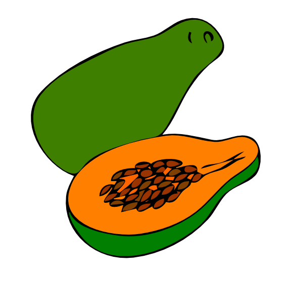 Papaya 4 Clip Art at Clker.com.