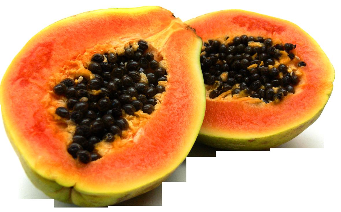 Half Cut Papaya PNG Image.