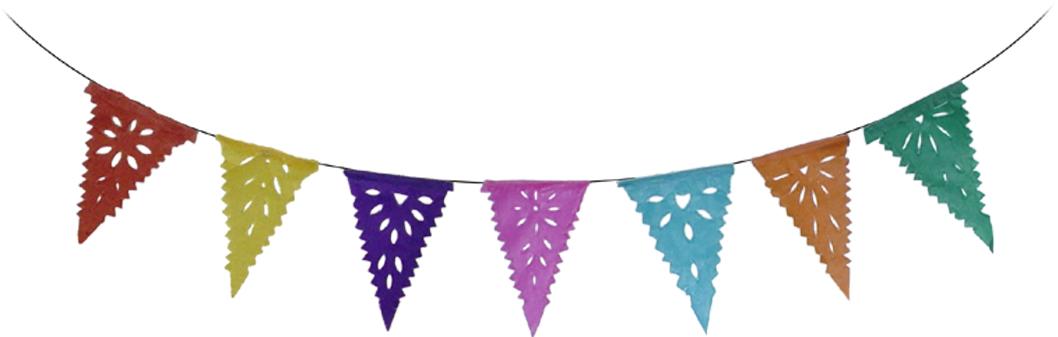 Mini Triangle Multicolor <br>Papel Picado Banner.