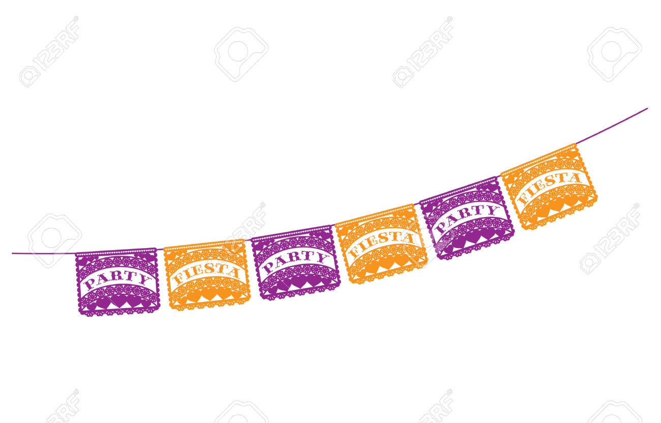 Mexican Fiesta Party Banner Royalty Free Cliparts, Vectors, And.