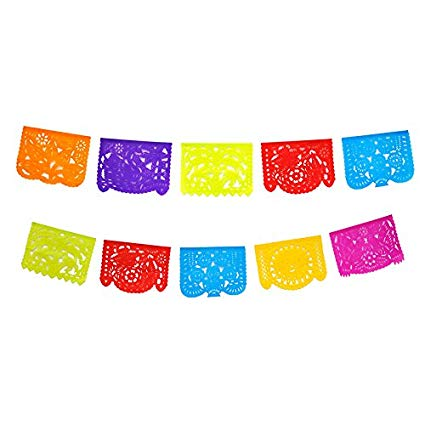 Authentic mexican papel picado 5 meters.