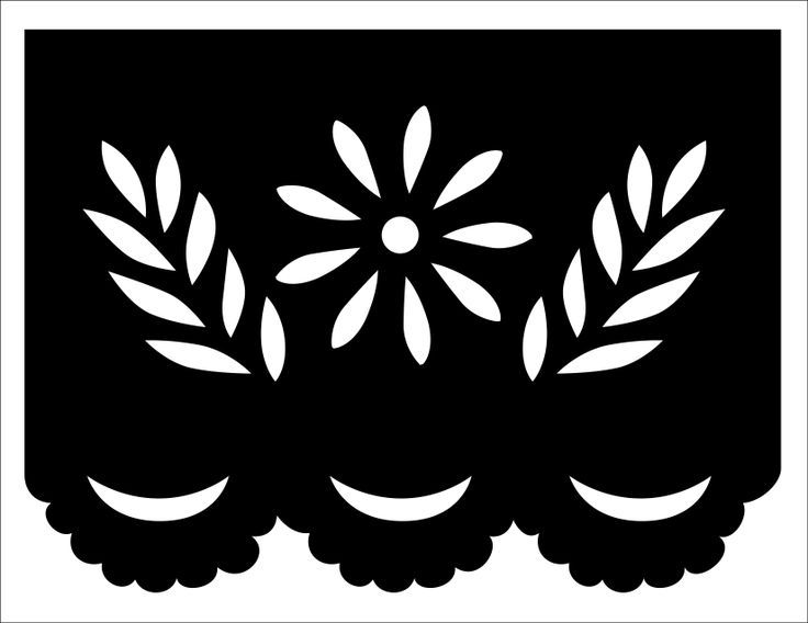 Papel picado template flower and leaves ….