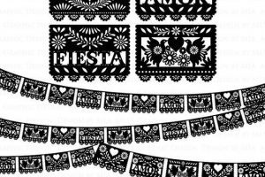 Papel picado clipart black and white 2 » Clipart Portal.