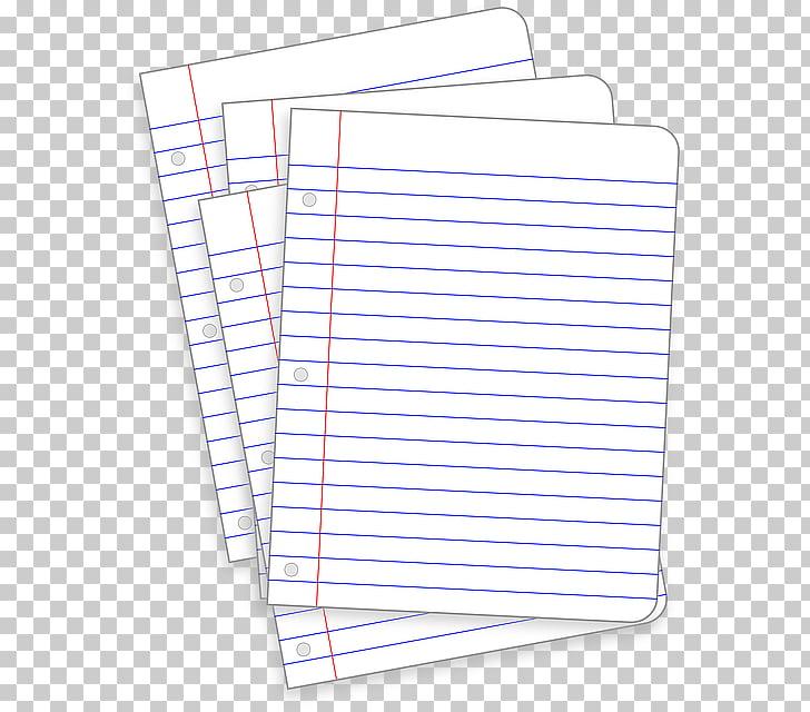 Cuaderno de papel gobernado hoja suelta, papelería PNG.