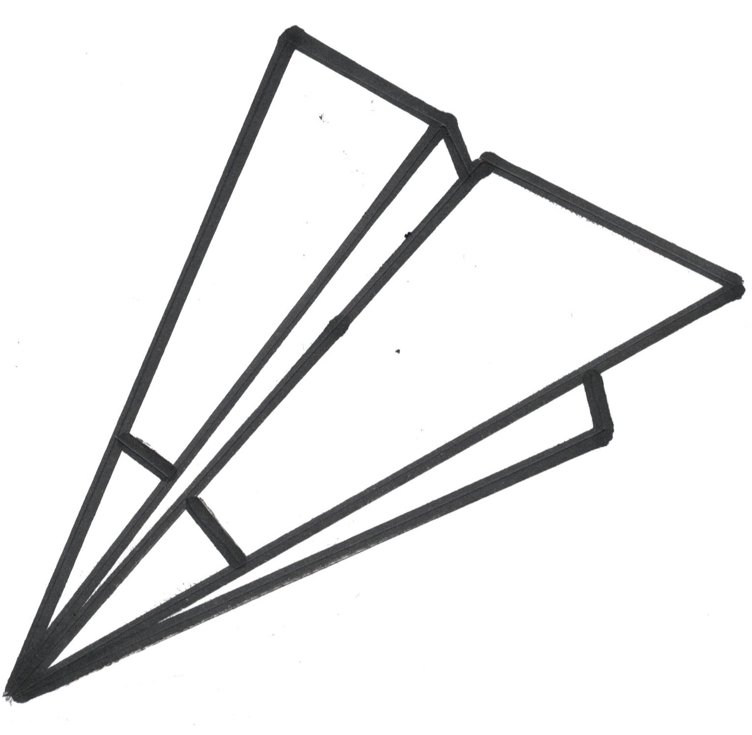 Animated paper airplane clipart.