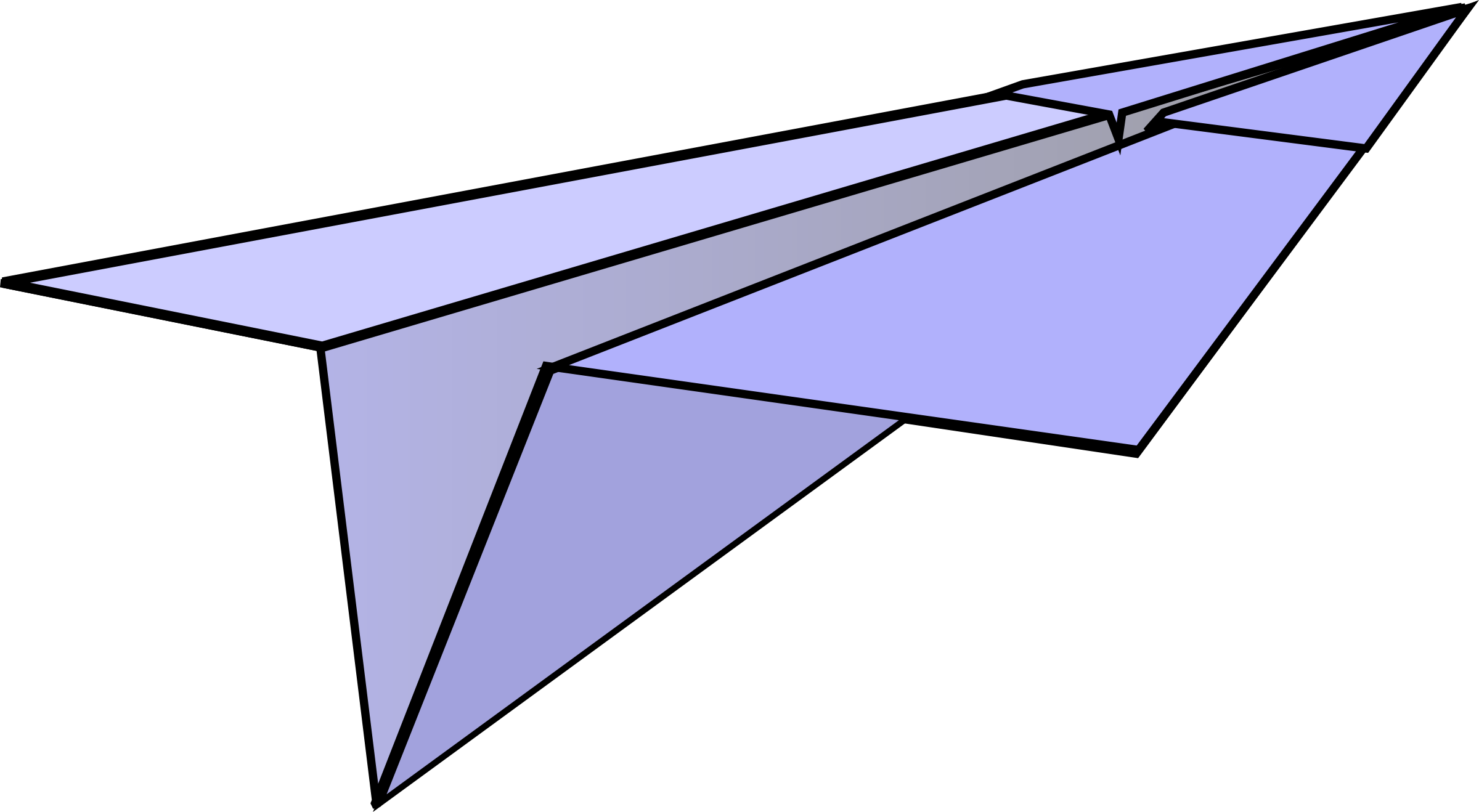 Clipart paper airplane.