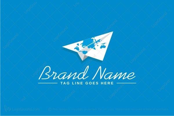 Exclusive Logo 30806, Paper Airplane Logo.