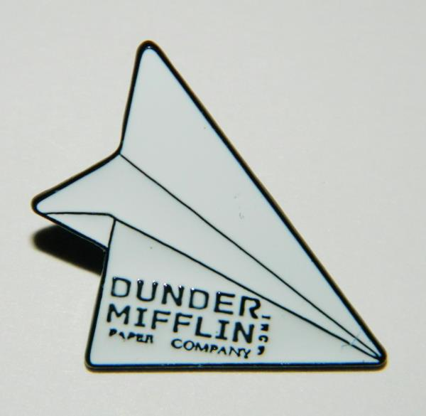 Details about The Office TV Series Dunder Mifflin Paper Airplane Logo Metal  Enamel Pin UNUSED.