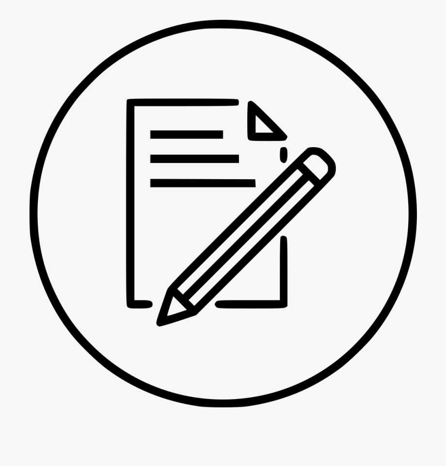 Document Paper Write Pencil Pen Drawing Png Icon Free.
