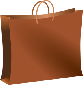 Brown paper bag clipart free.