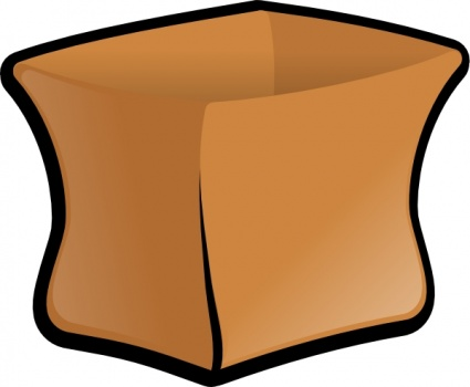 Clipart brown paper lunch bag.