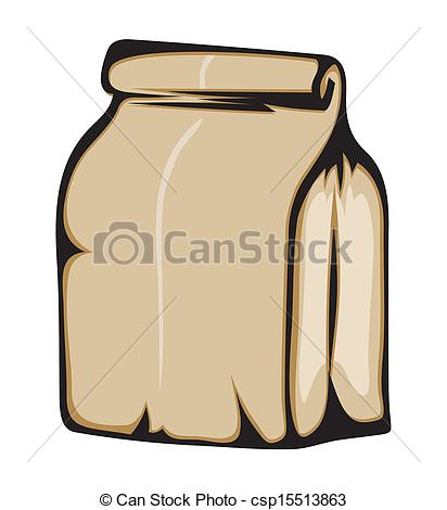 Clip Art Vector of Paper bag csp15513863.