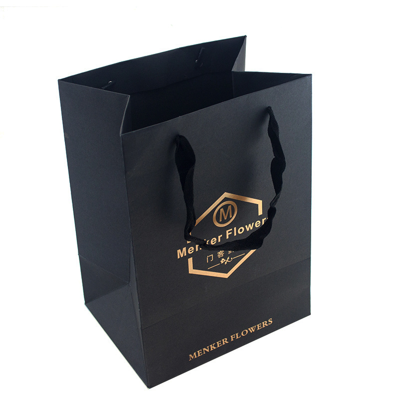 [Hot Item] High Quality Customized Hot Foil Stamping Logo Paper Bag.