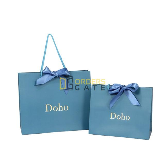 Printed Gift Custom Shopping Paper Bag with Your Own Logo De.