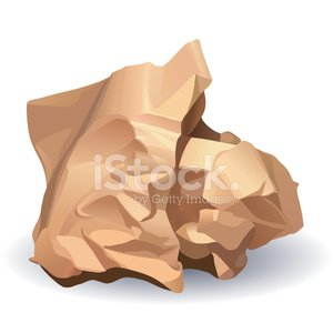 Crumpled Paper Ball On White Clipart Image.