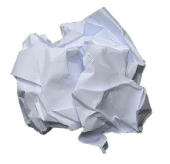 Crumpled Ball Of Paper transparent PNG.