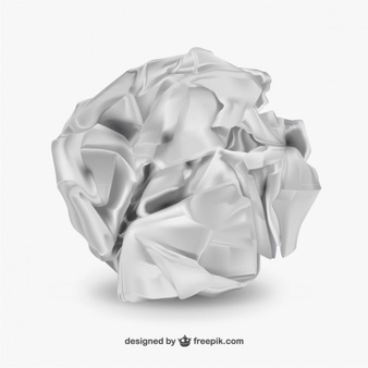 Crumpled Paper Ball Vectors, Photos and PSD files.