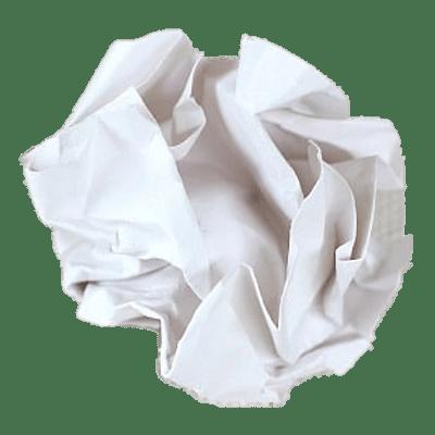 Crumpled Paper Ball transparent PNG.