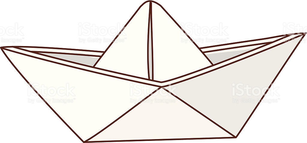 Paper Boat stock vector art 453775433.