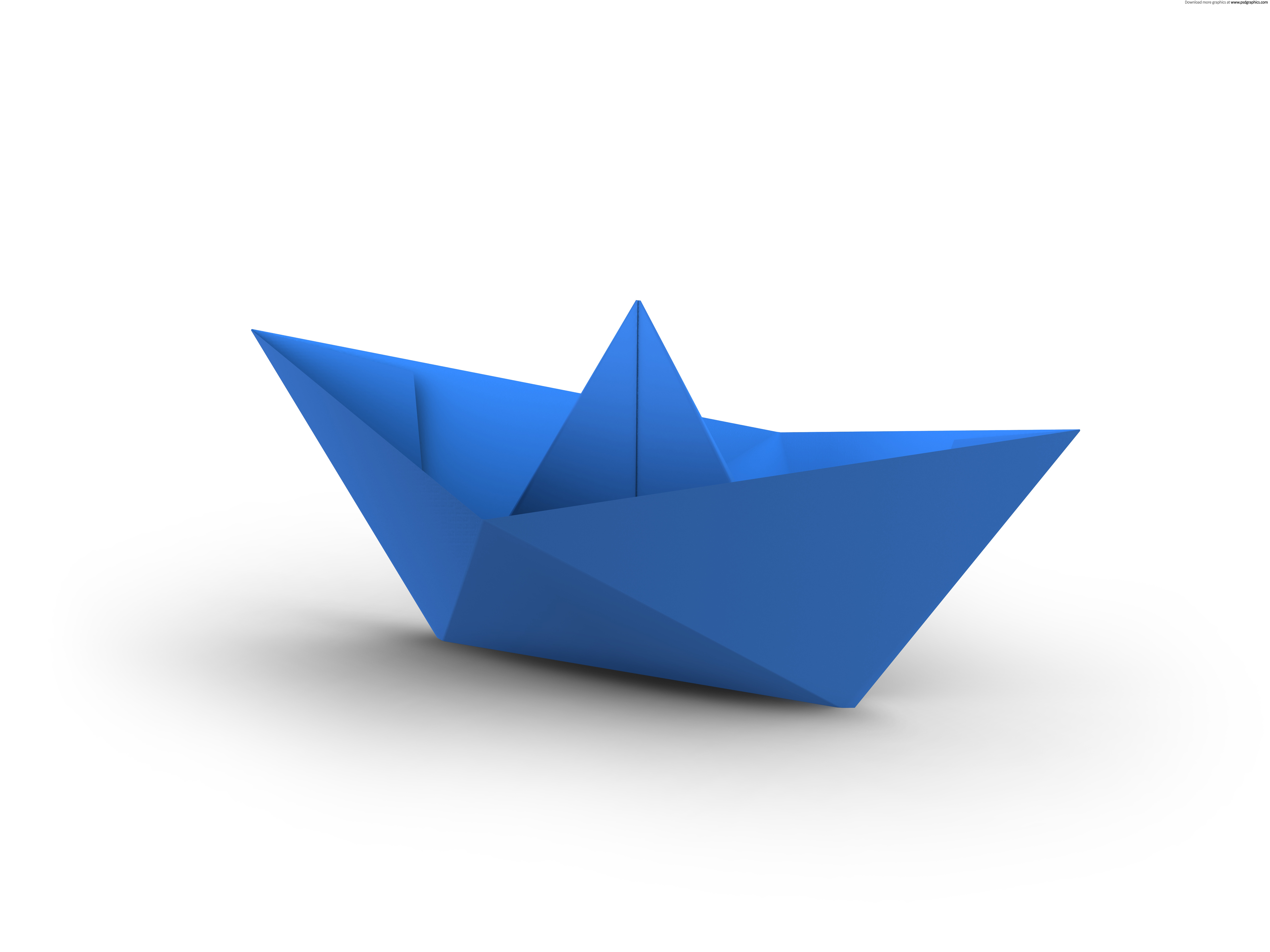 Paper boats clipart.