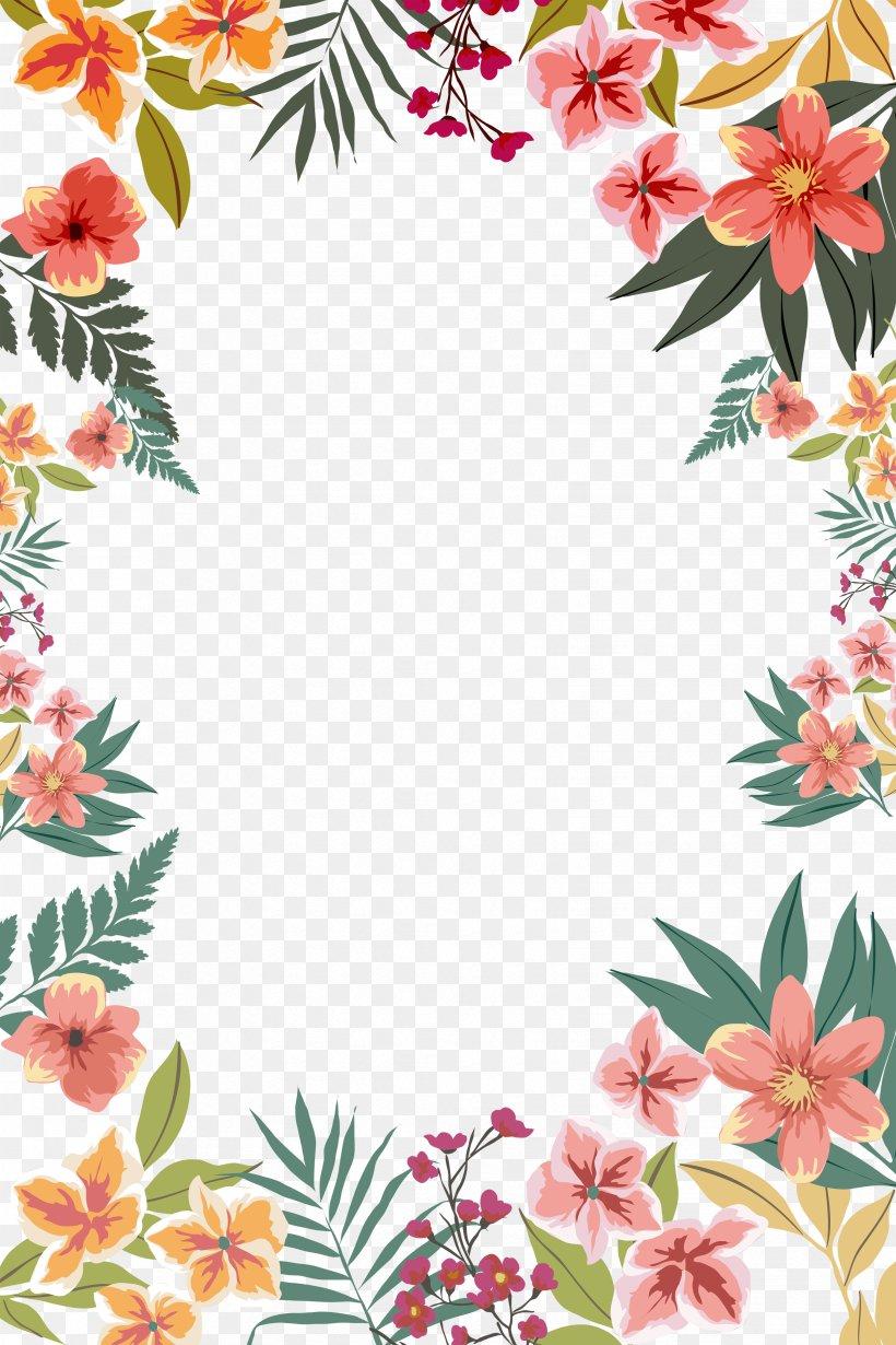 Flower Paper Clip Art, PNG, 3307x4961px, Paper, Border.