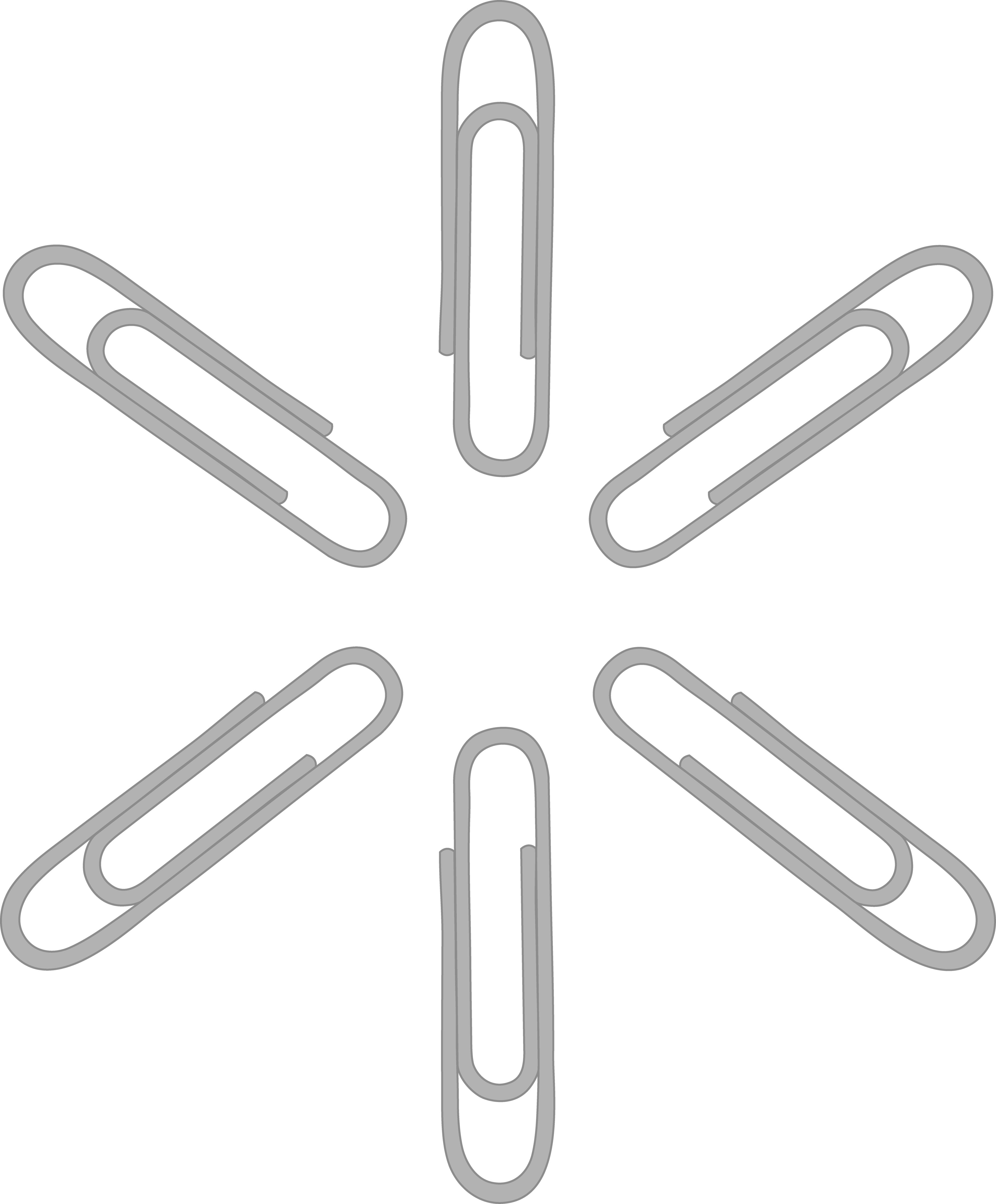 Silver Paper Clip Pattern.