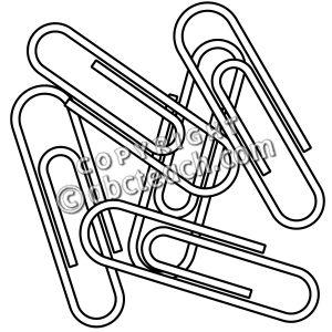 Paper clips clip art.