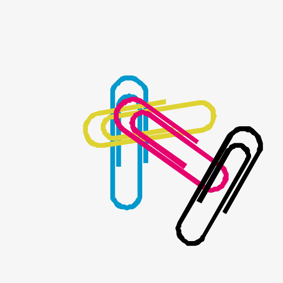 Download Free png colored paper clips, Vector,.