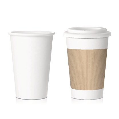 vector coffee paper cup Clipart Image.
