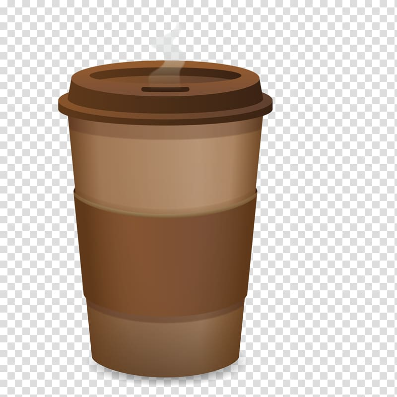 Coffee cup Cafe Paper, Disposable coffee cup transparent.