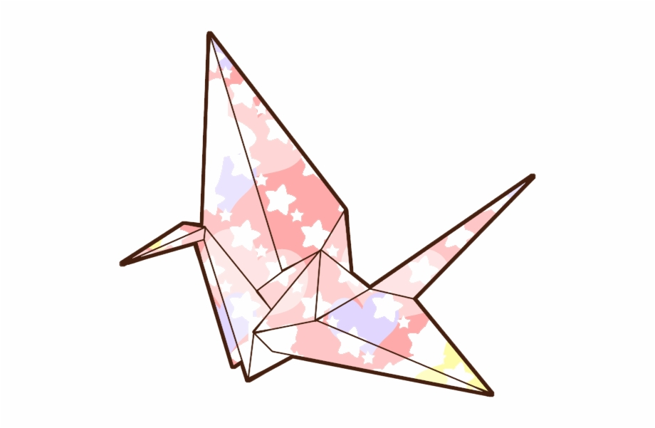 sticker #origami #crane #japan #tumblr #bird #colorful.