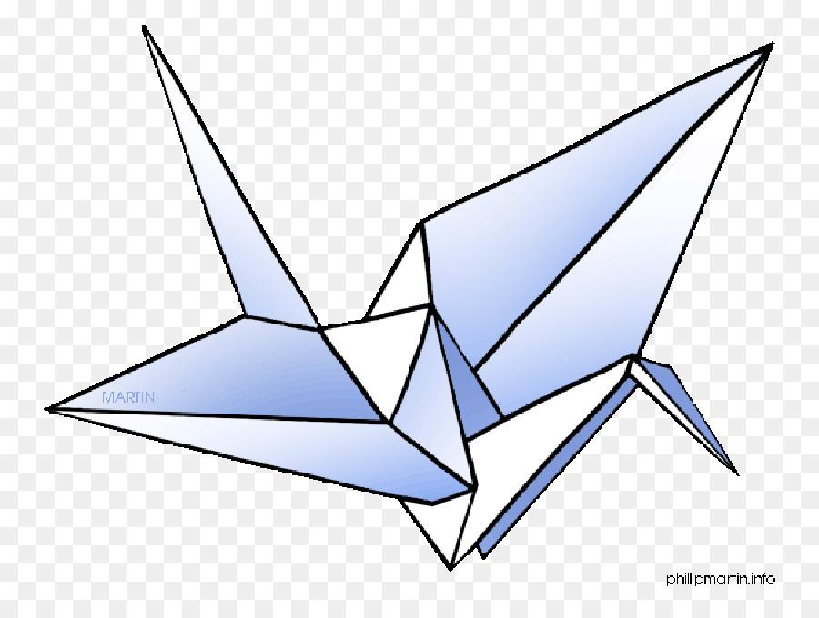 Origami Crane png download.