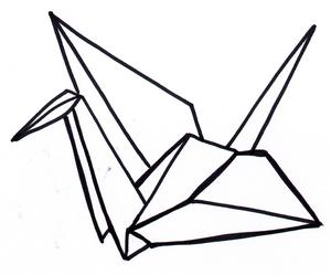 Paper Crane Clipart.