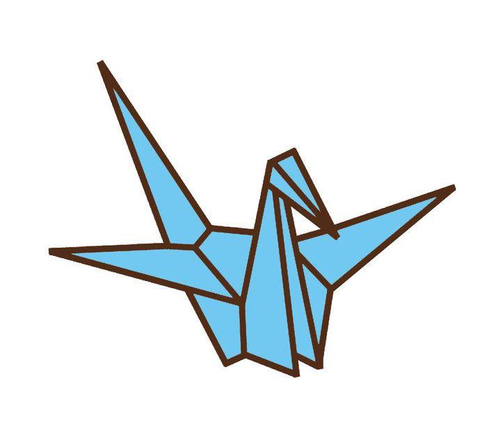 paper crane illustration.
