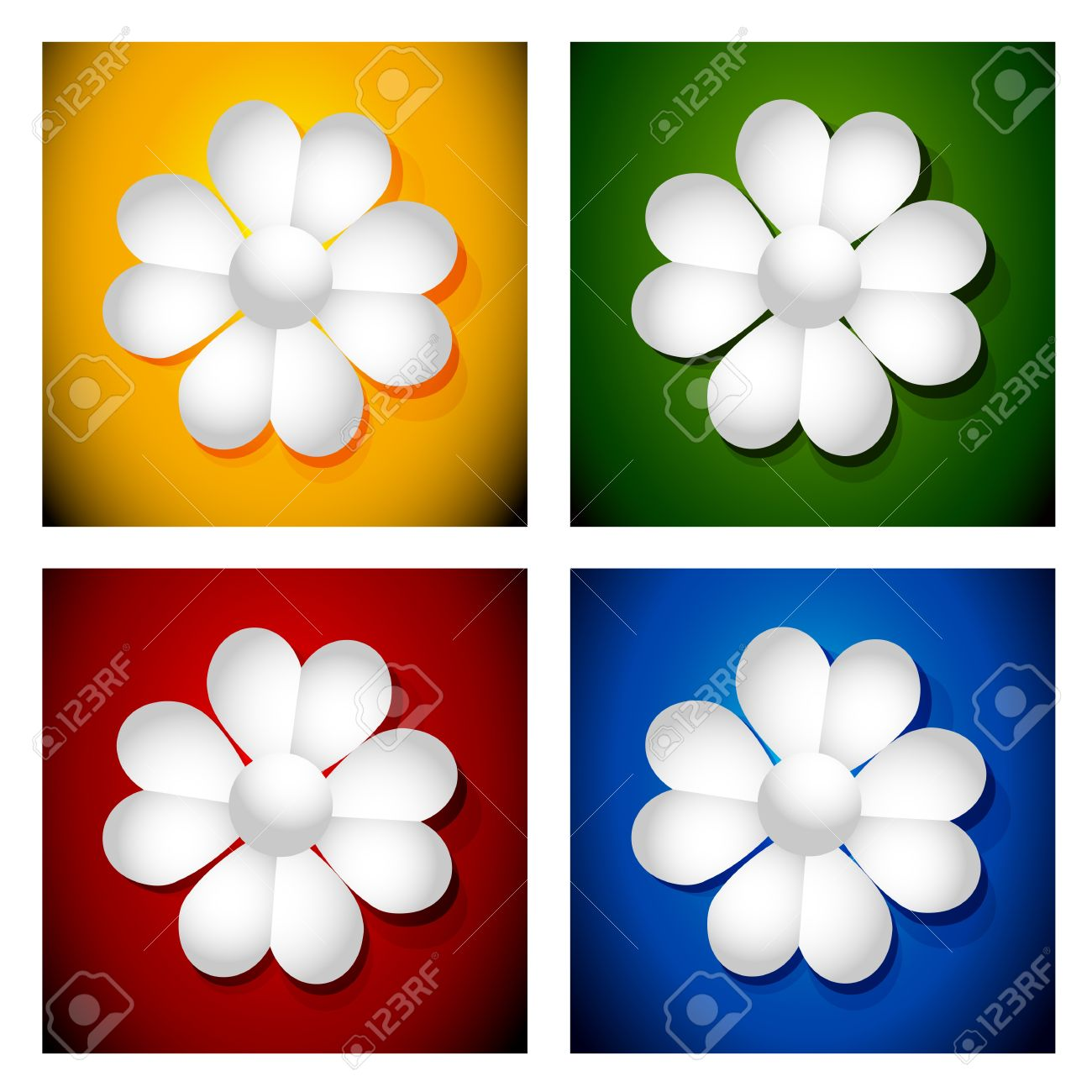 Paper Daisies Royalty Free Cliparts, Vectors, And Stock.
