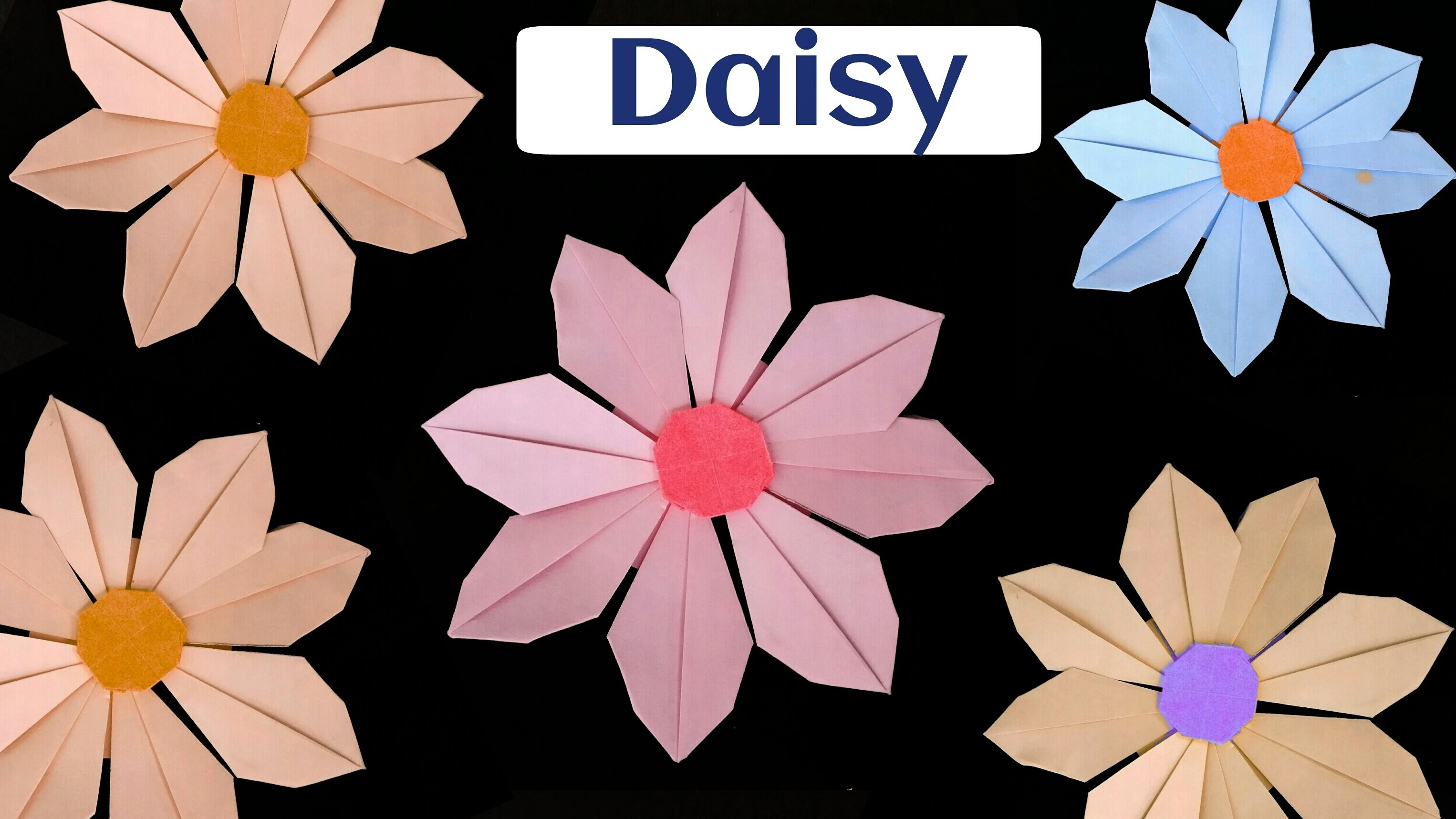 """How to make a Paper """"Daisy Flower""""."""