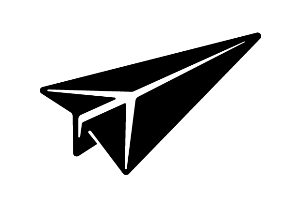 Paper Airplane Vector.