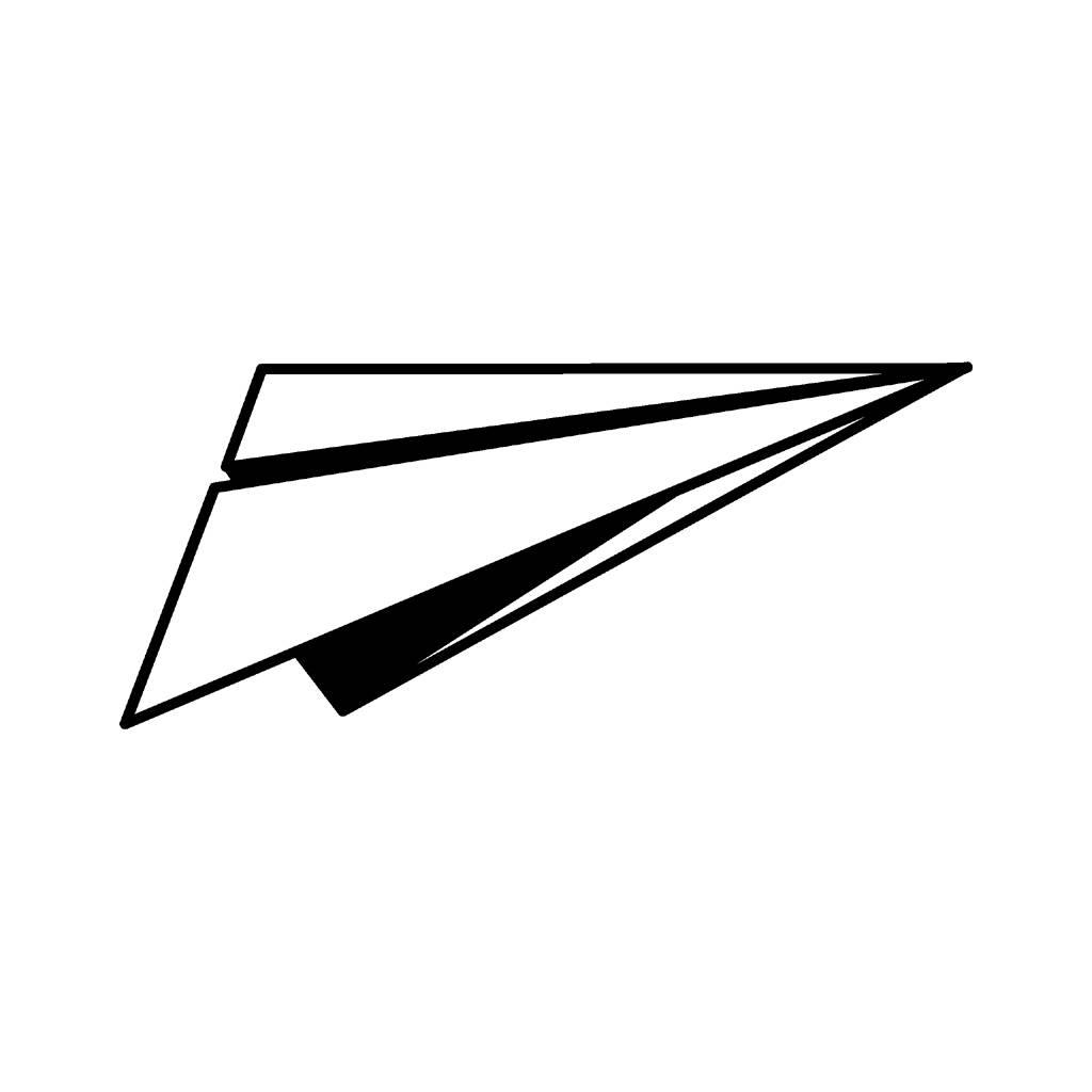 Paper Plane Drawing.