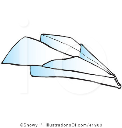 Paper Airplane Flying.