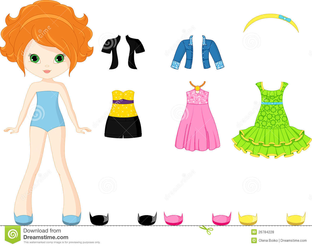 38+ Paper Doll Clipart.