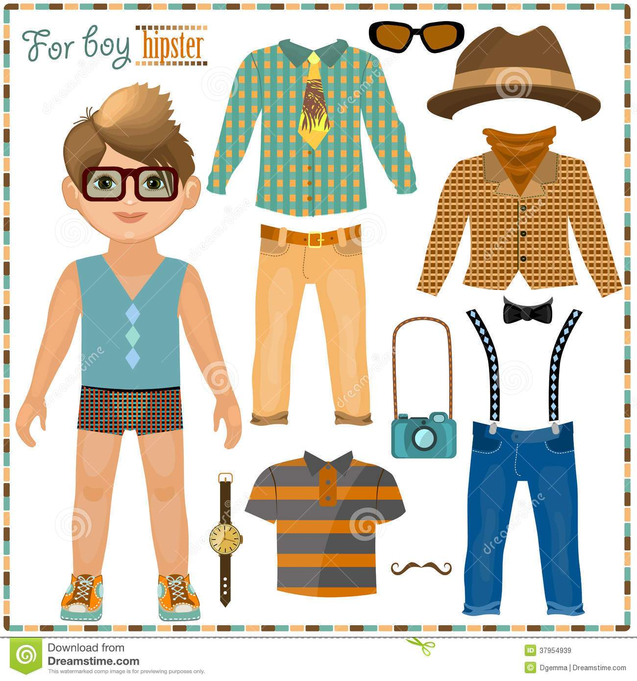 Free paper doll clipart 7 » Clipart Portal.