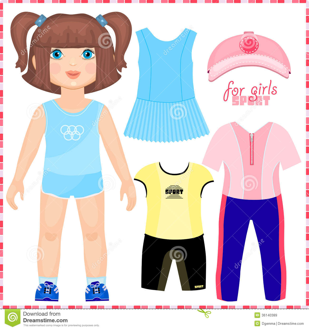 Girl Paper Doll Clipart.