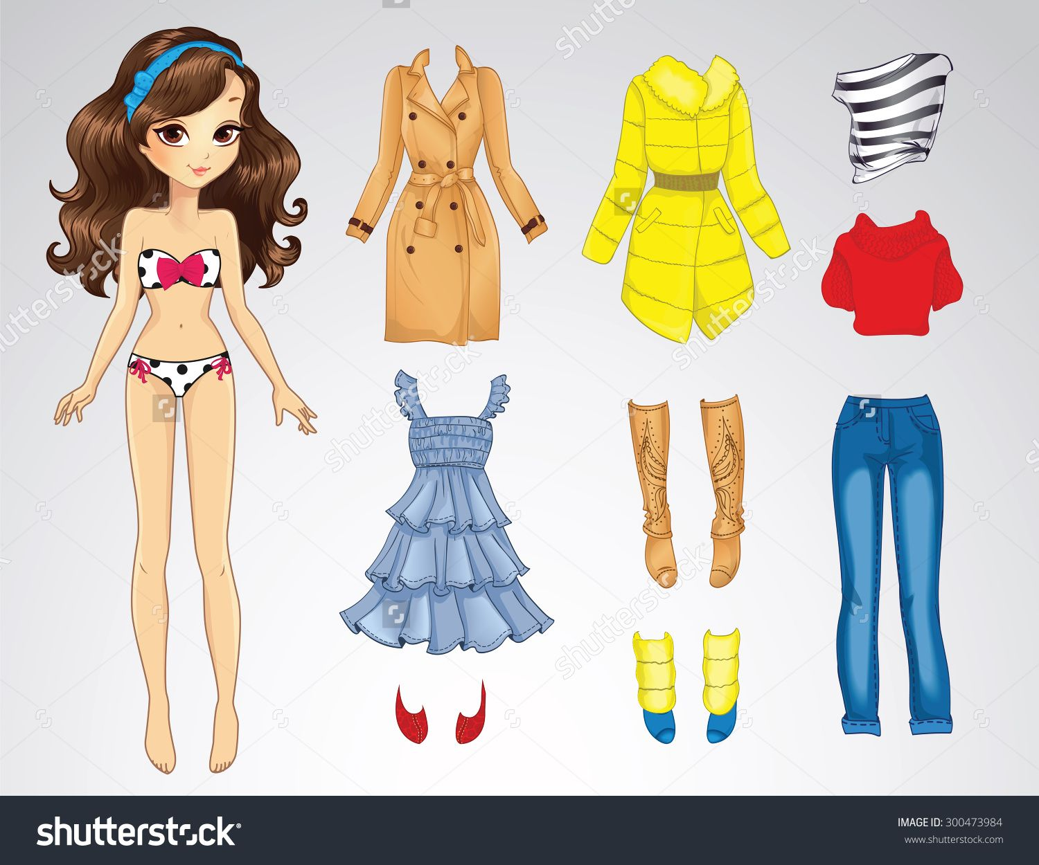 Paper Doll Clothes Clipart.