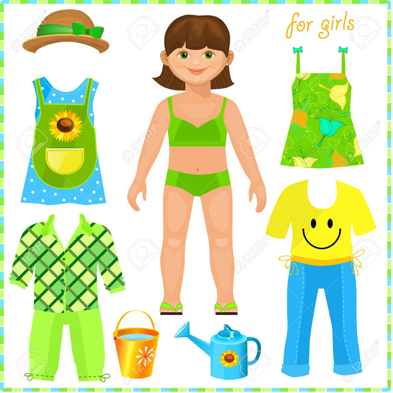 free paper dolls with clothes clipart.