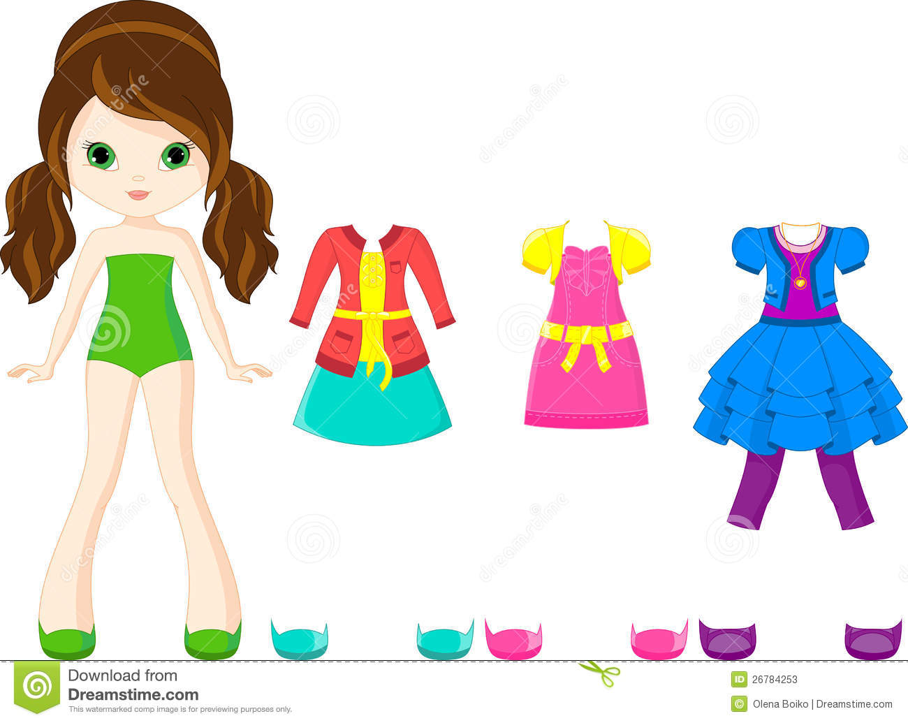 Paper Doll Clothes Clipart (79 ).