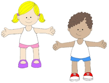 Kids in Action: Paper Dolls for Spring and Summer Clip Art 36 PNG\'s.