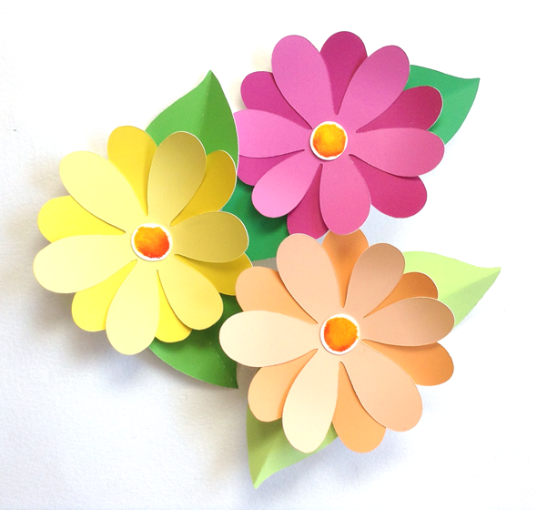 Paper Flowers Clipart Clipground