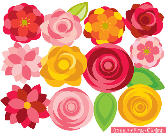 Flower paper clipart.