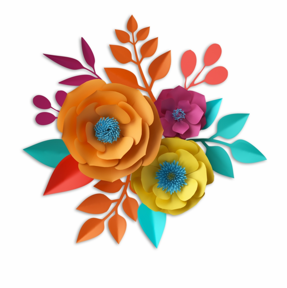 Mexican Paper Flowers Png, Transparent Png Download For Free.