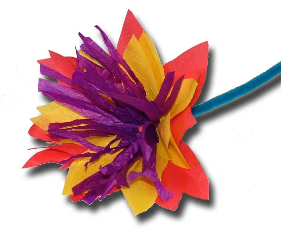 Paper Crafts for Children » tissue flowers.